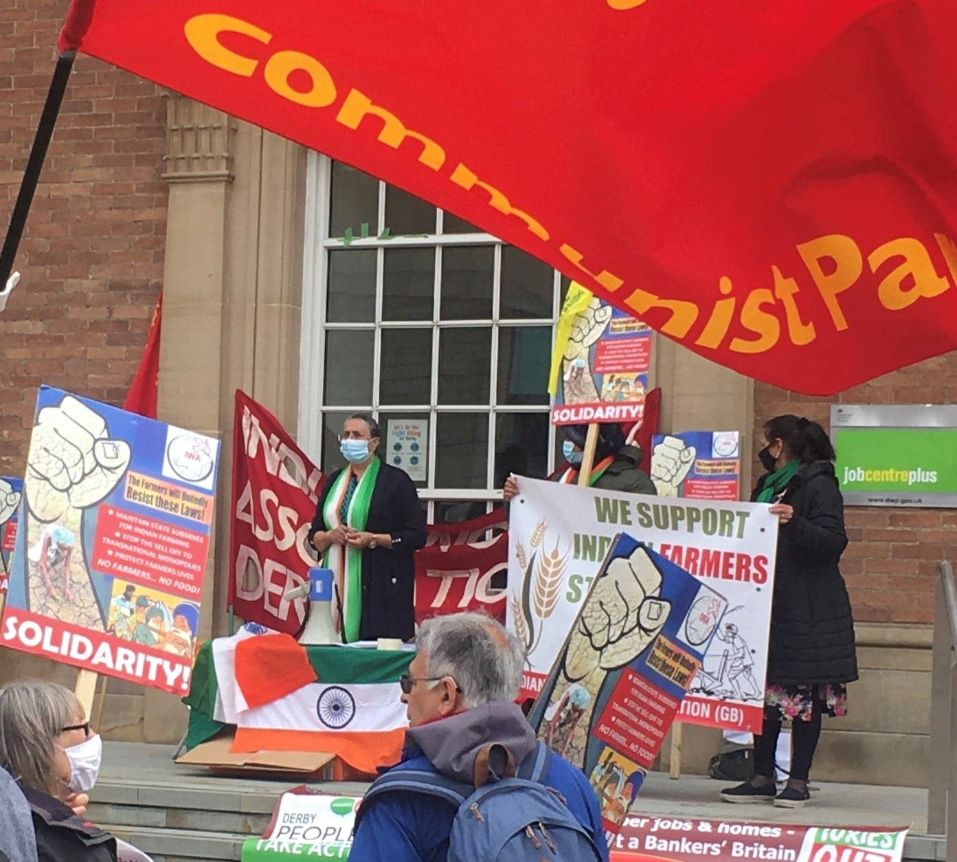 IWA Rally in Derby ; Solidarity with Indian Farmers and Farm Workers