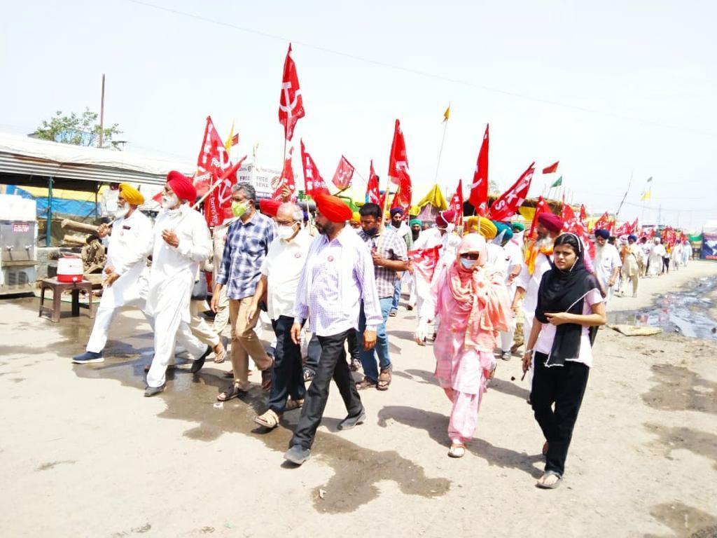 Hundreds of AIKS-led Punjab Peasants Return to Singhu Border